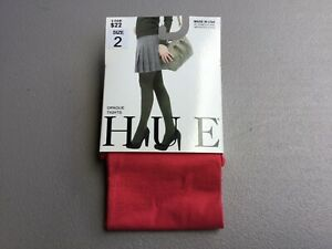 NWT Hue Opaque Tights w/ Non Control Top Size 2 Bittersweet #988G