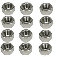 Grade A2 Hex Nuts - M14 x 1.5 - Metric Fine - Pack of 12