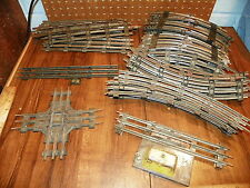 Lot of Vintage Lionel Railroad Train Track, Crossing, Straights and Curves