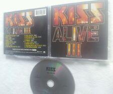 KISS ALIVE 3 US/GERMAN COLLECTORS EDITION CD BLACK / SILVER CD 1993