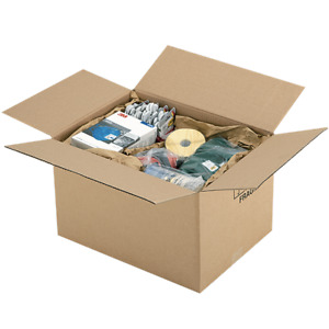 Boxes Carton Packing Shipping Corrugated Light Brown 34,5 x 22 x 14,5cm