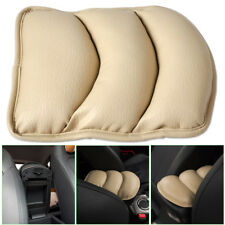 Beige Car Universal PU Armrest Console Pad Cover Liner Cushion Support Box Mat