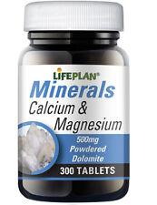 Lifeplan Calcium & Magnesium (Dolomite) 500mg 300 Tablets