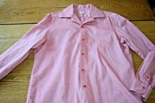 Barba Napoli Mens Red Dress Shirt - Italy Made - Large Button Front