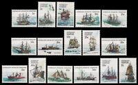 AAT / Austral. Antarktis 1979 - Mi-Nr. 37-52 ** - MNH - Schiffe / Ships