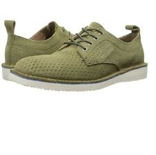 Andrew Marc Mens Baxter Casual Suede Grass/ White/ Peacoat Suede Shoes Size 9 D