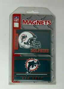NFL Football Team Magnets Set Miami Dolphins NIP
