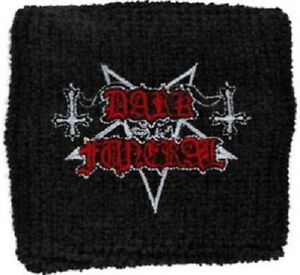 DARK FUNERAL Embroidered Wristband Sweatband Rock Official Merchandise