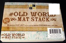 "DCWV Old World Paper Mat Stack 72 sheets 4.5"" x 6.5"" Scrapbook Pad Textured"
