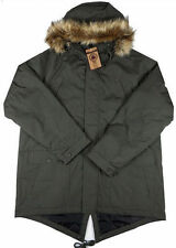 Button Cotton Parkas for Men