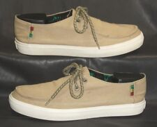 VANS khaki canvas oxfords lace ups Men's shoes size US Men 8.0