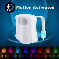 8-Color LED Motion Sensing Automatic Toilet Bowl Night Light Battery Bathroom