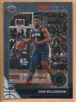 2019-20 Panini NBA Hoops Premium Stock Zion Williamson Rookie Base Card RC #258