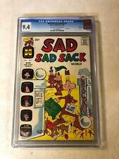 Sad Sad Sack World #2 CGC 9.4 NM ARMY FUN slobinski sarge 1965 FILE COPY Harvey