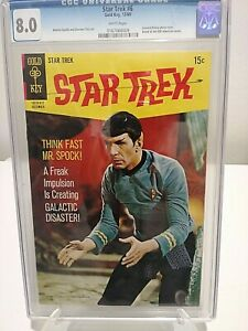 STAR TREK #8 CGC 8.0 Silver Age Gold Key* SPOCK