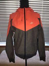 Vintage Nike Track & Field Zip Up Hoodie Orange Grey Small Jacket Men's