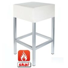 Barhocker Kaikoon weiß/ silber B1 Maße: 34 cm x 34 cm x 82 cm schwer entflammbar