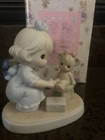 "Precious Moments ""Sharing""  Figurine 1994 Members Only  PM942"