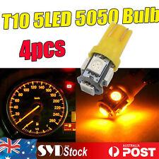 4 x Amber 920 921 T10 Wedge 5LED 5050 Led Light Corner Dome Map Golve Box Lights