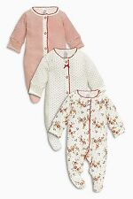 ••• ВNWT NEXT Babygrows Playsuits • Red Sleepsuit 3pk• 100% Cotton • 0-3 Months