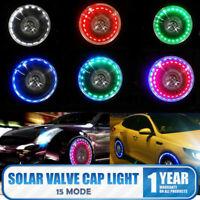LED Solar Auto Motorrad Ventilkappe Felgen Reifen Licht Lampe Beleuchtung Flash