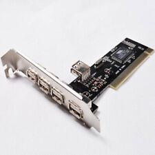5 Ports PCI-E to USB 2.0 HUB PCI Express Expansion Card Adapter Converter