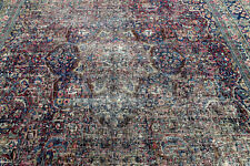 14X11 1900's INCREDIBLE HAND KNOTTED 100+YEARS ANTIQUE DOROKHSH ORIENTAL RUG