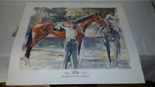 1986 Limited Edition 83/300 Sign Print 'WIN' COLIN COOTS Race Horse Racing Track