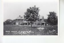 Real Photo Postcard Rear of Rest House Swansea MA