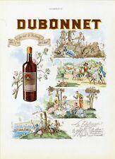 """""""DUBONNET"""" Annonce originale entoilée L'ILLUSTRATION 1939 Joë HAMMAN"""