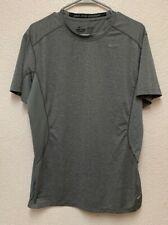 Nike Dri Fit Pro Combat Mens Fitted Short Sleeve Shirt Grey Sz L