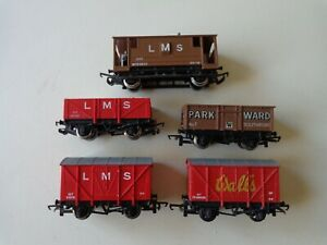 Wrenn 00 gauge wagons, lot of 5 as shown, unboxed