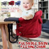 Baby Feeding Chair Foldable Portable Highchair Seat Booster Dinning Table US