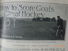 How to Score Goals Hockey  S H Shoveller Tom Browne Antique Photo Articles 1905