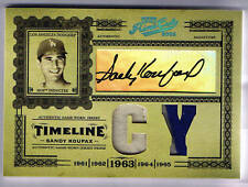 SANDY KOUFAX 05 PRIME CUTS AUTO GAME USED JERSEY # 5/10 SP DODGERS