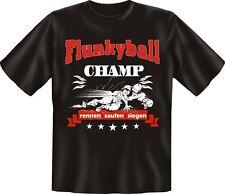 T-Shirt Fun-Shirt Flunkyball Champ rennen saufen siegen S - XXXL
