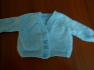 Hand knitted v neck cardigan baby girl prem- 6-12 months  choice of  colours
