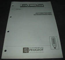 Werkstatthandbuch Peugeot 605 automatischer Scheibenwischer Stand 09/1997