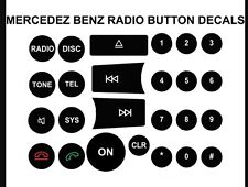 RADIO BUTTON REPAIR DECALS 2008-2014 MERCEDES BENZ C, E, GLK, and W Class Cars