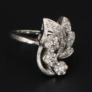 Vintage /& Antique Art Deco Wedding Fine Ring 14k White Gold Finish 2 Ct Diamond