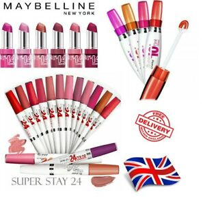 Beauty Maybelline Super Stay Make Up Lipstick ~ 10h, 14h & 24h ~ 22 shades