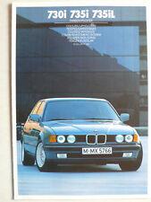 Prospekt BMW 7er E 32 Farben / Polster - 730i, 735i, 735iL, 2.1986, 6 Seiten
