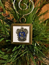 """Harry Potter Ravenclaw crest double sided Square Silver 1"""" Ornament"""
