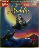 NEW DISNEY ALADDIN LIVE ACTION 4K ULTRA HD BLU RAY TARGET EXCLUSIVE DIGIPACK WIL