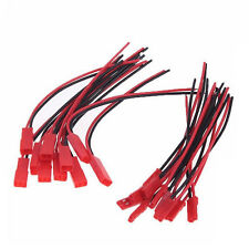 10Pairs 100mm JST Connector Plug Cable Male+Female for RC BEC Lipo Battery 22AWG