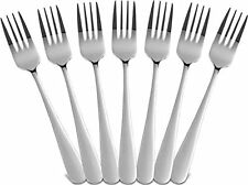 12 Piece Forks Dinner Set Stainless Steel Silver Flatware By Utopia Kitchen