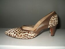 1960's Glam Danny Simmons Leopard French Bootier Hand Made Women's Heels 6 B