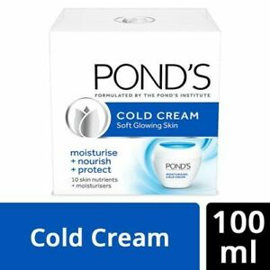 Ponds cold cream 100ml soft smooth glowing skin moisturize nourish protect