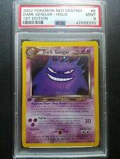Pokemon PSA 9 1st Edition Neo Destiny Dark Gengar Holo Rare (6/105) MINT