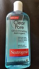 Neutrogena Clear Pore Oil-Eliminating Astringent 8 oz Exp 01/20 and After New